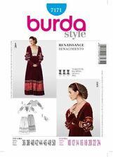 Burda Sewing Pattern 7171 Womens Renaissance Costume Sizes 10-24