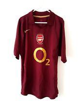 Arsenal Camisa De Casa 2005. medio. Nike. Rojo Adultos Manga Corta Fútbol Top M.