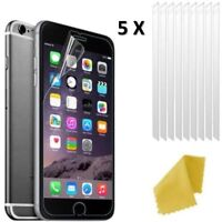 5 X Apple iPhone 7 Clear Plastic Screen Guard LCD Protector Film 3 layers