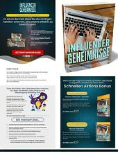 Influencer Geheimnisse - eBook, Verkaufsseite + PLR Lizenz - Komplettpaket