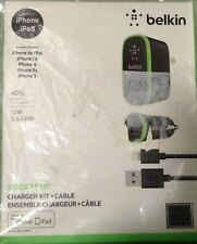 Belkin Charger Kit for iPhone & iPad - Retail Packaging - Black/Green