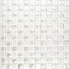Mosaïque carreau translucide crystal Lustre blanc cuisine 88-8LU90_f |10 plaques