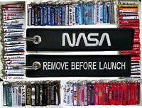 keyring NASA Remove Before LAUNCH keychain tag BLACK
