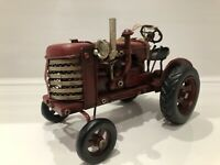Tin Vintage Red Model Massey Ferguson Style Tractor Ornament Gift Farm