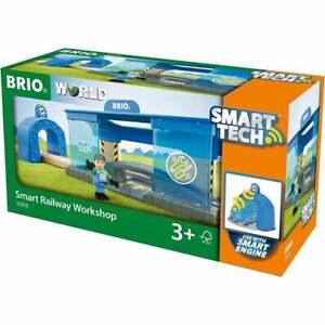 Brio 33918  Wooden Railway - Smart Tech Railway Workshop   UK Seller