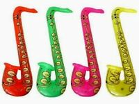 INFLATABLE BLOWUP SAXOPHONE JOB LOT WHOLESALE MUSIC PARTY STOCK