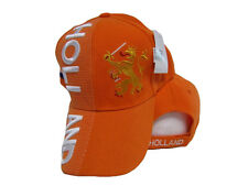 Holland Netherlands Country Letters Flag Orange Hat Cap 3D embroidered