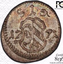 """""""FINEST & ONLY"""" @ NGC & PCGS MS64 1771 PFENNIG NUREMBERG GERMANY UBER-TONED"""