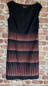 Monsoon Shift Dress Size 10 Black Designer Worn Once