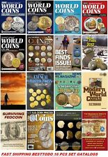 Krause Standard Catalogs of World Coins + Magazines 16 pcs set Fast Shipping