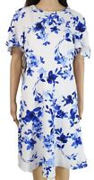 Lauren by Ralph Lauren Womens Dress Blue Size 8 Sheath Flutter Sleeve $135 218