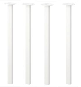 Set of 4 - IKEA GODVIN Legs - White, New 502.002.71