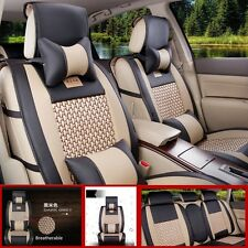 5-Seat Car All seasons Seat Covers  PU Seat Covers With Headrest Waist Pillows