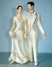 Lenox  Bride & Groom Cake Topper Just Married Figurine (Caucasian) New In Box