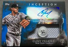 Clint Frazier 2018 Topps Inception Auto Jersey Button Rookie Card #6/6