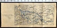 "World War 1 MAP  ""THE THIRD BATTLE OF THE AISNE"" River WW1 Antique WWI Rare"