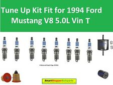 Oil Filter, Air Filter Fuel Filter, Spark Plugs Fit for 1994 95 Ford Mustang V8