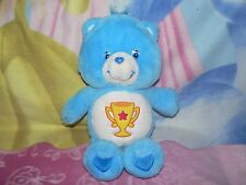 "13"" PLUSH BLUE CHAMP CARE BEAR TROPHY CUP STAR BABY BOY GIRL COLLECTIBLE TOY"