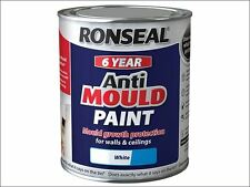 Ronseal - 6 Year Anti Mould Paint White Matt 750ml