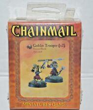Chainmail Miniatures GOBLIN TROOPER x 2 Drazen's Horde WOTC Dungeons Dragons
