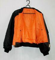 DELTA MA1 Black bomber jacket Flight Pilot Army USAF Size XXS EUR M