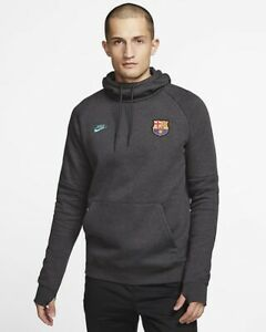 Nike FC Barcelona Fleece Hoodie Pullover Sweater Barca CI2090-065 Men's S Small