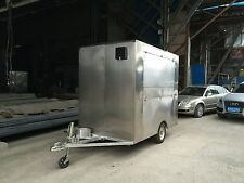 New Stainless Steel Concession Stand Trailer Mobile Kitchen 2 Fryer Grill &Hood