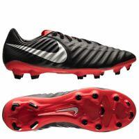 NEW Nike Legend 7 Pro FG Men's Soccer Cleats Black Silver Red AH7241-006