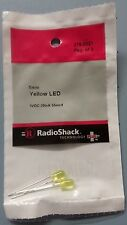 RADIO SHACK 2760021 5mm Yellow LED 3 VOLTS DC  276-0021 NEW