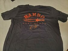 RAMBO LAST BLOOD - 2019 ACTION MOVIE FILM - ADULT EXTRA LARGE (XL) PROMO T SHIRT
