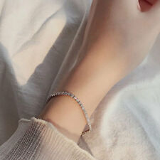 6.0ctw White Gold Plated Silver 925 Moissanite Tennis Bracelet Test Positive VVS