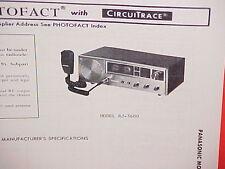 1979 PANASONIC CB RADIO SERVICE SHOP MANUAL MODEL RJ-3600