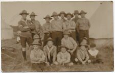 Real Photo Unknown Location Boy Scout Group Canvas Tents 1920 Jamboree ?