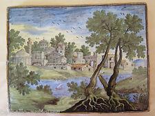 ANTICA PIASTRELLA IN CERAMICA DI CASTELLI D'ABRUZZO EPOCA SETTECENTO XVIII