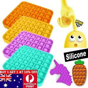 Pop it Square Fidget Toy Push Bubble Stress relief Kids tiktok Family games AU
