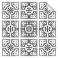 Black Grey Mosaic Tile Stickers Transfers Kitchen Bathroom All Sizes - MS2A