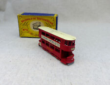 Matchbox Lesney Model Of Yesteryear MOY Y-3 1907 London E class tramcar et boite