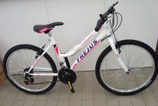 Bici Donna 24 MTB Bike con cambio 18v Frejus e Telaio in acciaio Bianco / Fuxia