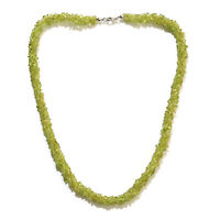 "925 Sterling Silver Peridot Necklace Jewelry Gift for Women Size 20"" Ct 228.9"