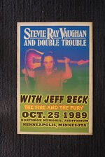 Stevie Ray Vaughn Jeff Beck 1986 tour poster The Fire &