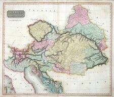 ORIGINALE ANTICO MAPPA 1817 Austria, Rep Ceca Croazia Slovenia Ungheria THOMSON