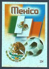 MUNDOCROM WORLD CUP 2006- #204-MEXICO TEAM BADGE-SILVER FOIL