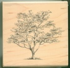 Inkadinkado rubber stamp Dogwood Tree wood mounted, Garden, Nature, 01273