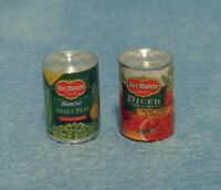 Dolls House Miniature 12th Scale 2x Tins of Food D1267 - Designs May Vary