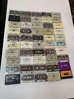 Huge Assorted Lot Vintage Music Cassette Tapes Lot Of 50  Tapes Look Pls Read