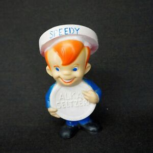 "Vintage RUBBER ""SPEEDY"" BANK The Alka Seltzer Mascot ABSOLUTELY PERFECT!"