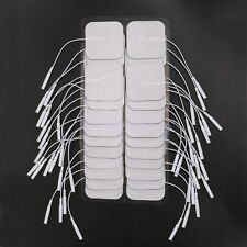 "FDA 40 Replacement Tens Electrode Pads EMS for Units 7000 3000 2x2"" White Cloth"