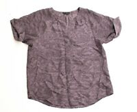 Womens Theory Yonna Chantilly 100% Silk Popover Tunic Blouse Size S Small