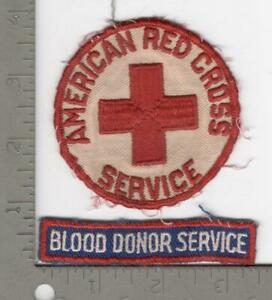 WW 2 American Red Cross Blood Donor Service Patch & Tab Inv# N846