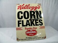 """A Wall Clock made from a Reproduction Add  """" Kellogg's """" from the 50's Superb !!"""